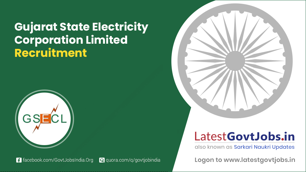 Gujarat State Electricity Corporation Limited Recruitment