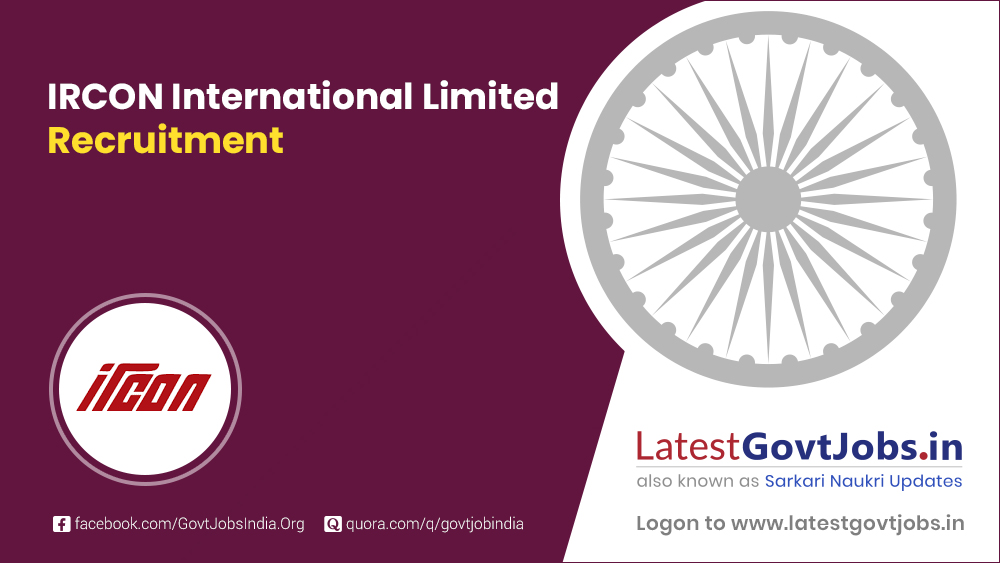 IRCON International Limited Recruitment