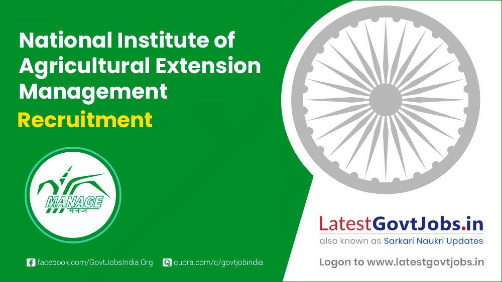 National Institute of Agricultural Extension Management Recruitment