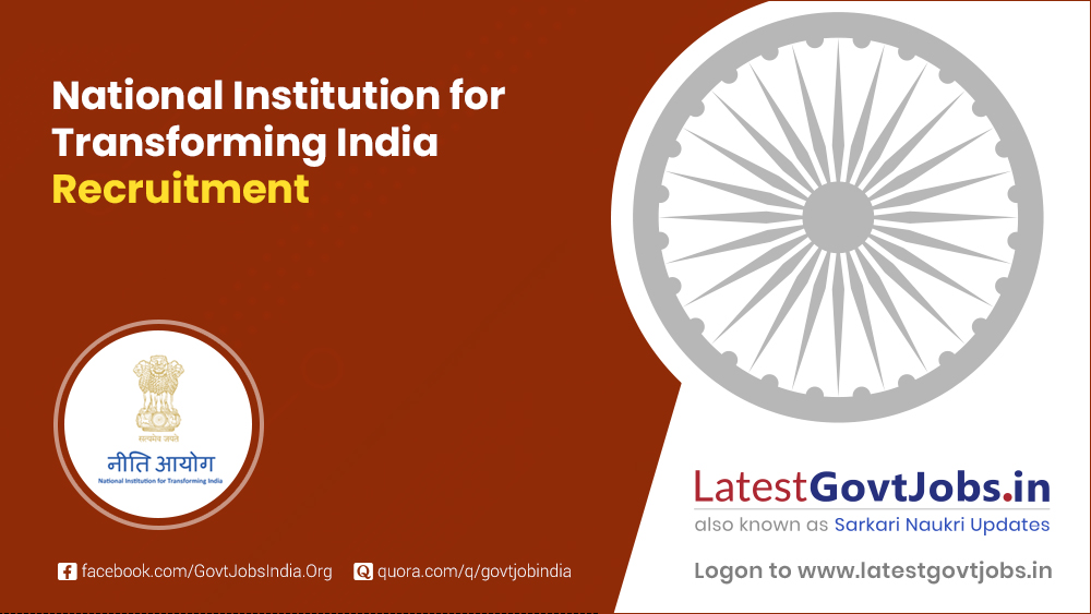 National Institution for Transforming India Recruitment