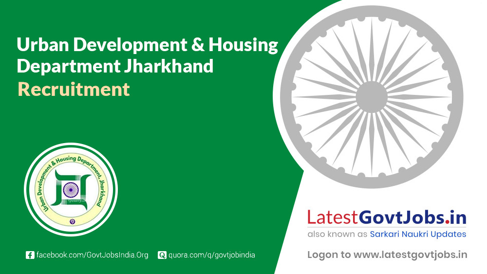 Urban Development and Housing Department Jharkhand
