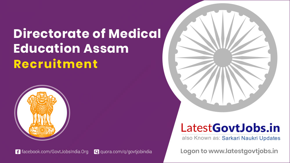 Directorate of Medical Education Assam