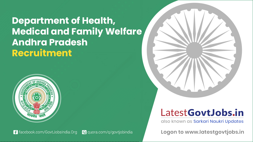Department of Health, Medical and Family Welfare Andhra Pradesh Recruitment