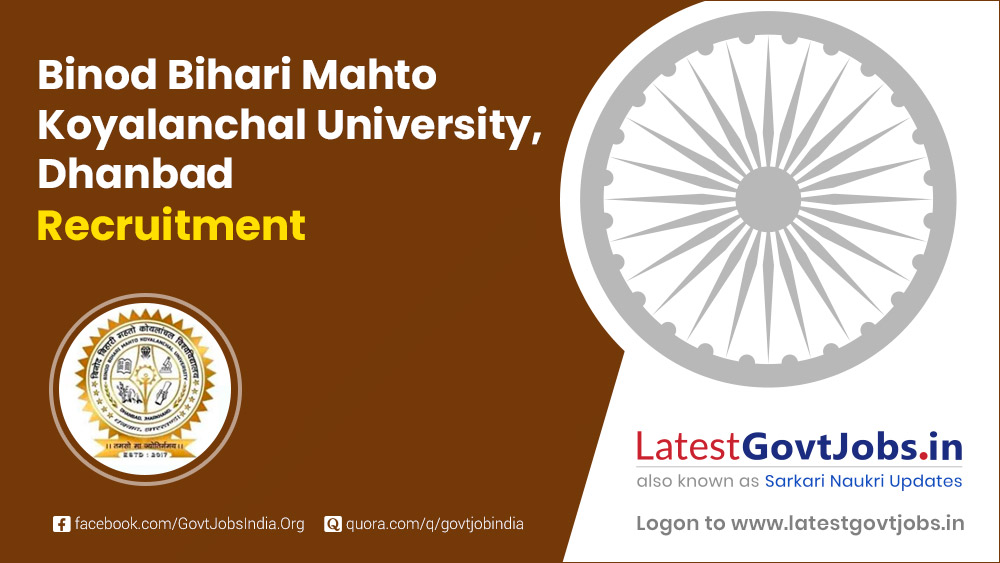 Binod Bihari Mahto Koyalanchal University Dhanbad Recruitment