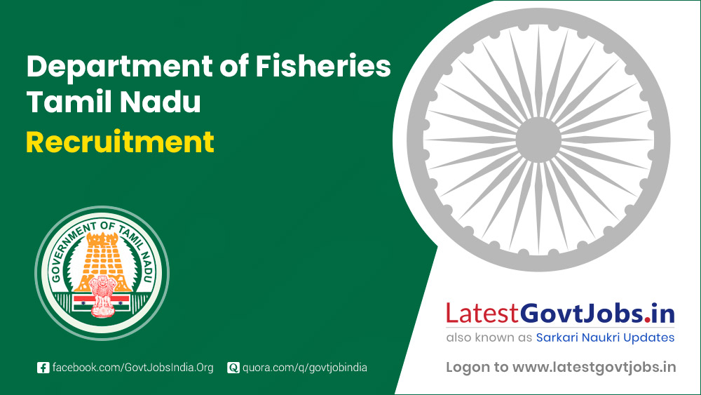 Department of Fisheries Tamil Nadu Recruitment