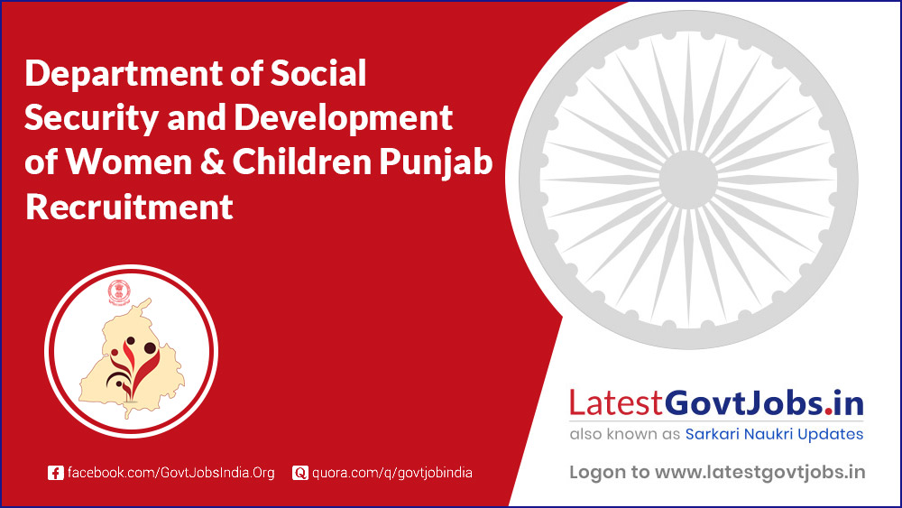 Department of Social Security and Development of Women & Children Punjab